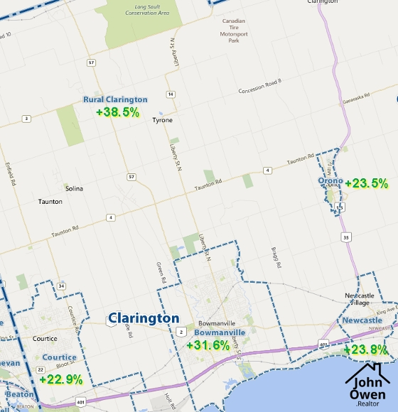 Top Performing Clarington Real Estate Areas