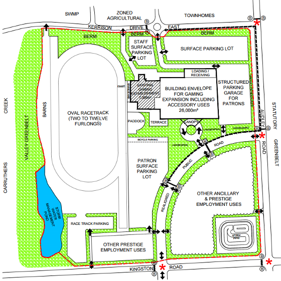 Ajax Downs Casino site plan
