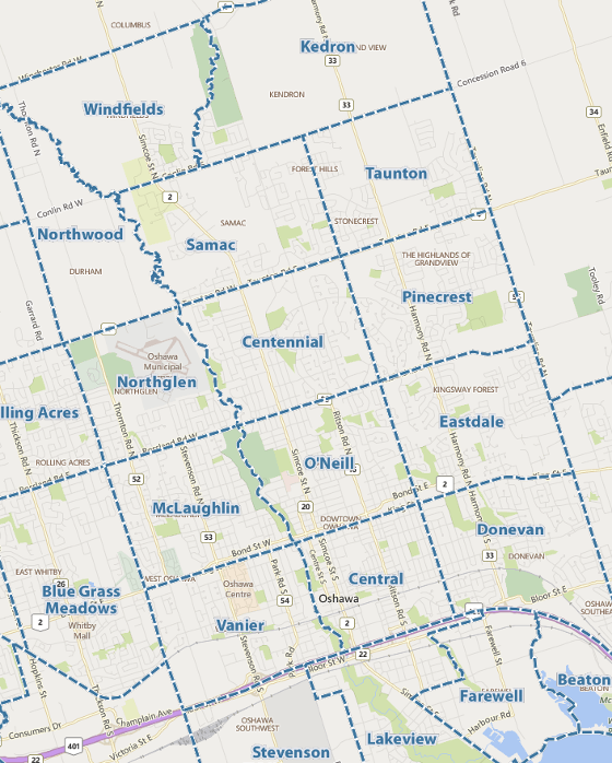 Oshawa MLS Map