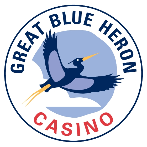 great blue heron casino logo