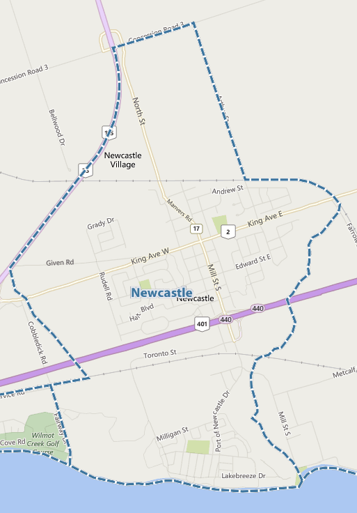 Newcastle MLS map