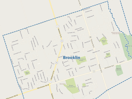Brooklin MLS map